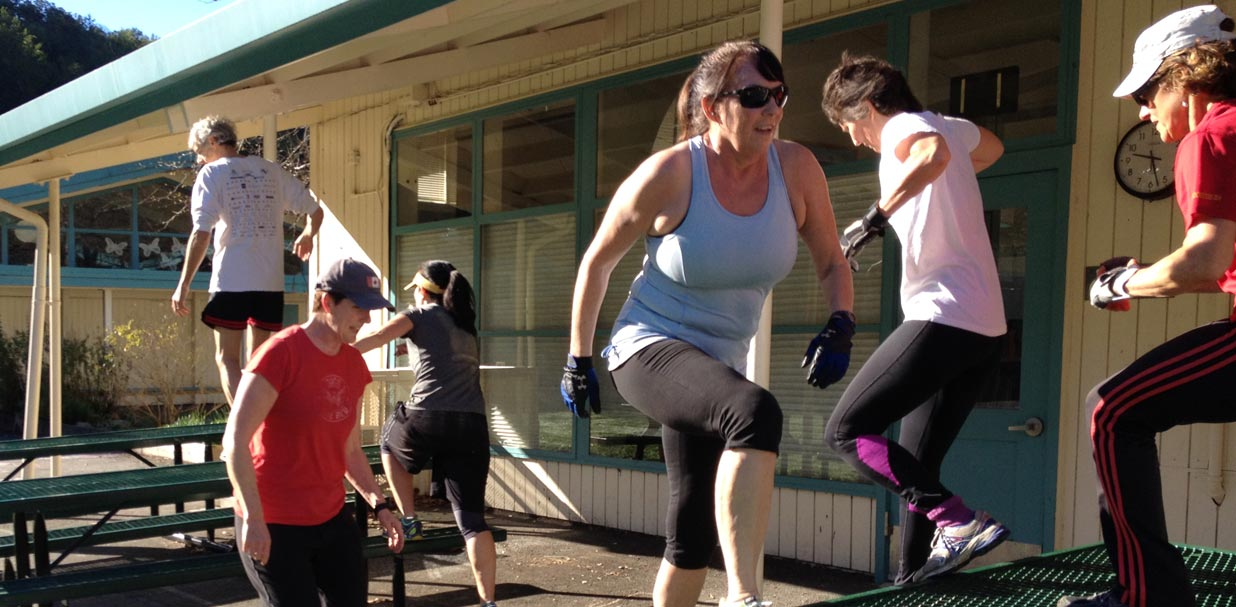Boot Camp: climbing over the tables