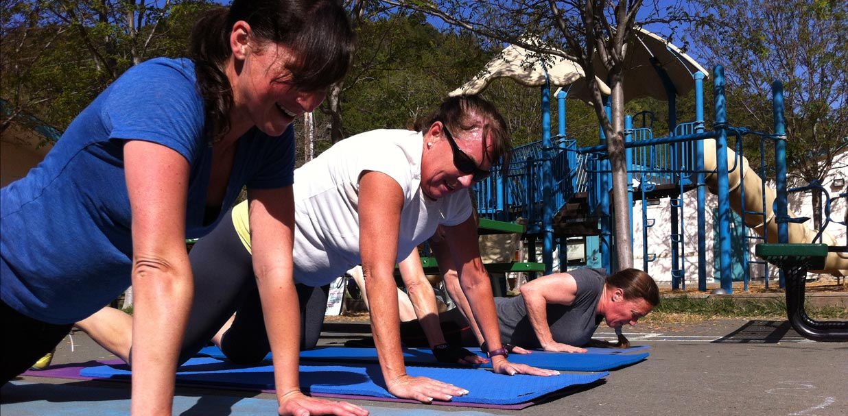 Small Group Fitness: pushups