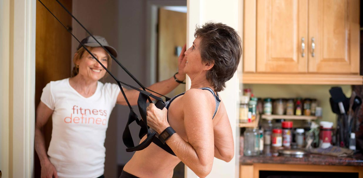Personal Training: ring rows at home