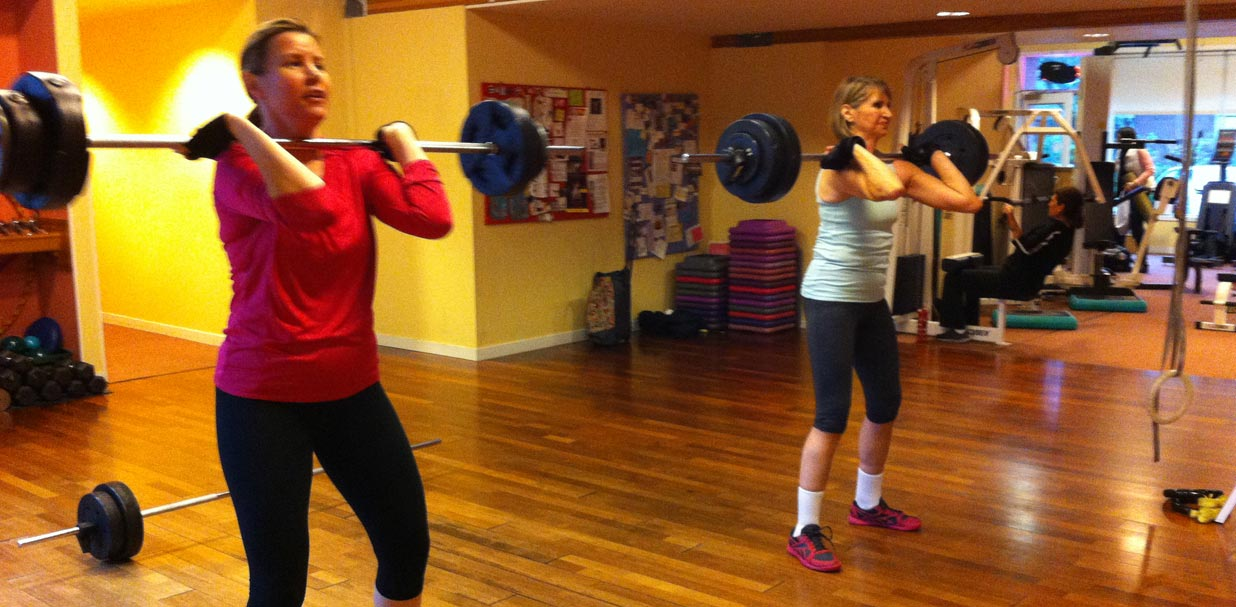 Personal Training: barbell squats